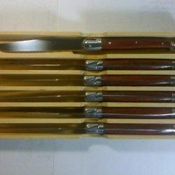 Laguiole Jean Dubost Set Of 6 Steak Knives-Rosewood