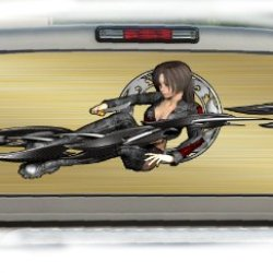 Anime Girl 2- 17 Inches-By-56 Inches Compact Pickup Truck- Rear Window Graphics