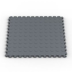 Norsk-Stor Nsmprc6Dg Raised Coin Multi-Purpose Pvc Flooring, Dove Gray, 6-Pack