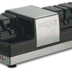 Waring Ks80 Knife Sharpener, Black And Brushed Stainless