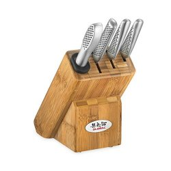 Japanese Global Masuta 5Pc Knife Block Set