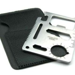 Stainless Steel Credit Card Size Survival Multi-Purpose Pocket Tool Kit