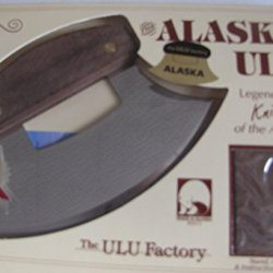 Alaska Blade Ulu Knife Walnut Wood Handle