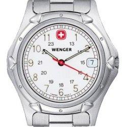 Wenger Men'S 70109 Standard Issue White Dial Steel Bracelet Watch