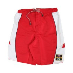 Playwell Mma Red/White Block Pattern Design Microfibre Fight Shorts - Medium