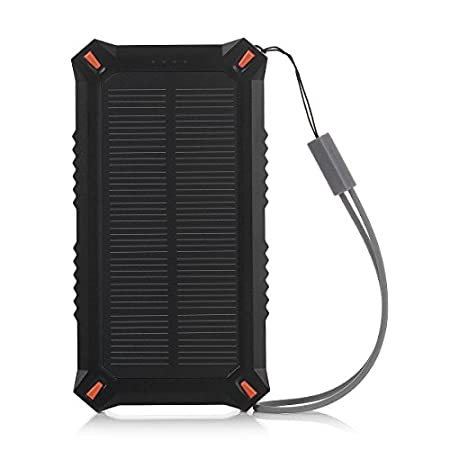 Where there is light, there is power Solar power bank, can be in a state of moving anywhere at any time for your equipment provide a steady stream of power Compact size design for portability, with the free hook, you may just hang it on your bagpa...