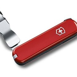 Victorinox Pocket Knife, Nail Clip 582, Red Synthetic Handle 0.6453