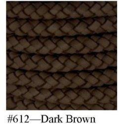 """Dark Brown, Braided Bolo Cord, 10Mm (3/8"""") X 2M (2.18 Yd)"""