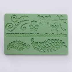 Fern Butterfly Silicone Cake Mould