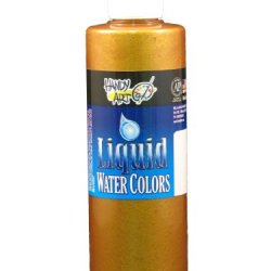 Handy Art By Rock Paint, 276-163, Washable Liquid Watercolor 1, Metallic Treasure Gold, 8-Ounce