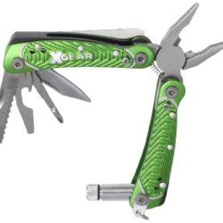 X-Gear Men'S Multi-Function Tool With Led Light, Green, One Size