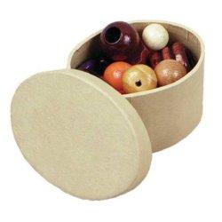 Chenille Kraft Papier-Mache Mini Box - Oval