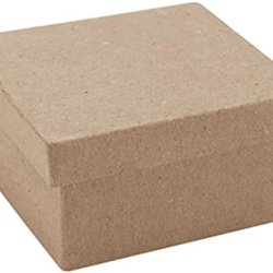 Dcc Mini Square Box Paper-Mache, 3 X 3 X 1.5-Inch