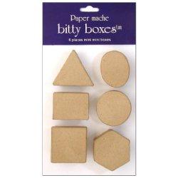 Paper Mache Box Bitty Assorted 6Pc By Craft Pedlars