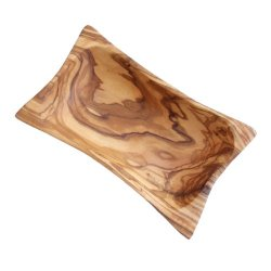 Naturally Med - Olive Wood Butter Dish / Serving Dish