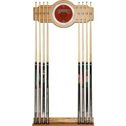 Brown University Wood And Mirror Wall Cue Rack Brown University Wood And Mirror Wall Cue Rack