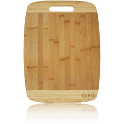 "Bamboo Cutting Board Large - Extra Large Board Measuring 15.75"" X 11.75"" X 5/8"" - Strong And Durable Hard Wood - Great Compliment To Smaller Wooden Cutting Boards - The Best Investment For Your Kitchen - Eco Friendly And Bio Degradable 100% Replacement Gu"