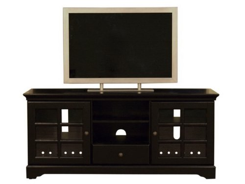 Image of Entertainment TV Stand Console Table - Black Finish (VF_WI-HS801)
