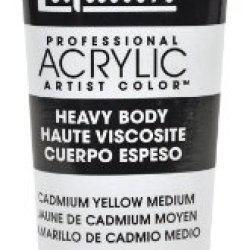 Liquitex Professional Heavy Body Acrylic Paint 2-Oz Tube, Cadmium Yellow Medium