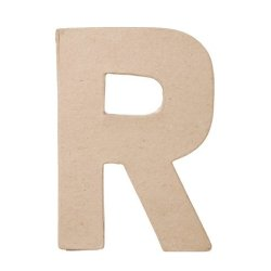 "Ready To Decorate Paper Mache Capital Letter ""R"" For Crafting, Creating And Projects"