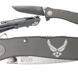 Usaf Air Force Logo Custom Engraved Sog Twitch Ii Twi-8 Assisted Folding Pocket Knife By Ndz Performance