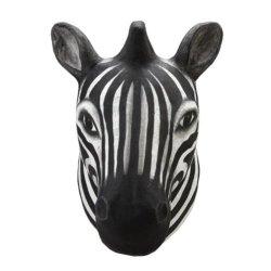 Creative Co-Op Papermache Zebra Head