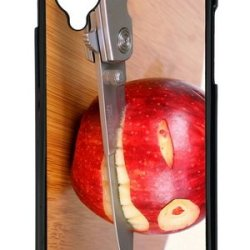 Google Nexus 5 Case,Mokshop Adorable Funny Apple Knife Hard Case Protective Shell Cell Phone Cover For Google Nexus 5 - Pc Black