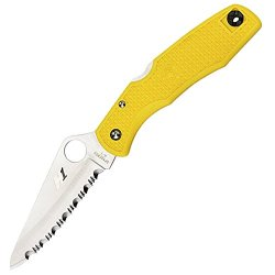 Spyderco Pacific Salt Serrated Edge Yellow H1-Steel Knife