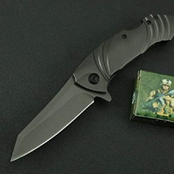 Outdoor Survival Camping Black Rescue Folding Pocket Knife Mkx25-7.71''