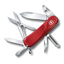 "Victorinox Swiss Army Delemont Collection 85Mm (3.34"") Evolution 16 Pocket Knife Multi-Tool, Red"