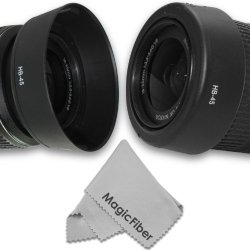 Hb-45 Dedicated Altura Photo Lens Hood For Nikon 18-55Mm F/3.5-5.6G Ed Ii, 18-55Mm F/3.5-5.6G Vr Af-S Dx Nikkor Lenses (Nikon Hb-45 Replacement) + Magicfiber Microfiber Lens Cleaning Cloth