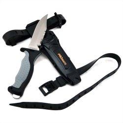 Promate Sharp Tip Titanium Dive Knife - Kf593, Gray/Black, Sharp Tip