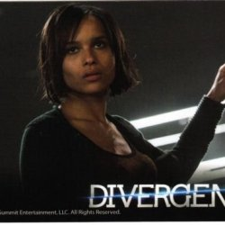 2014 Neca Divergent (Movie) Trading Card #26--Christina Knife Throwing