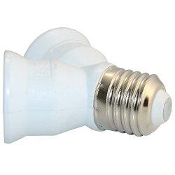 E27 Screw Socket Led Cfl Light Bulb Lamp Converter 1 To 2 Adapter Splitter White