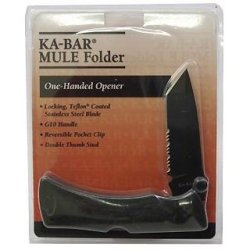 G10 Mule Folder Tanto Blade-Black-Cp, Serr Edge,