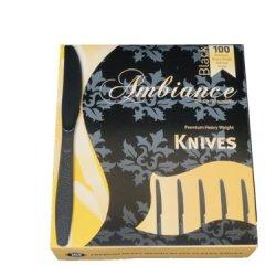 Heavy Weight Black Plastic Knives 100/Box