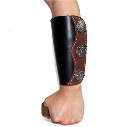 Archery Genuine Leather Arm Guard For Bow Arrow Shooting Protection