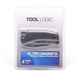 Tool Logic Slpb1 Slpro1 Tactical,Multifunction Folding Knife Plus Hands-Free Magnetic Flashlight And Signal Whistle, Black