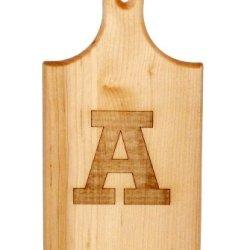 J.K. Adams Q-Tee Cut-Up Sugar Maple Wood Cutting Board, 7-1/2-Inches By 4-Inches, Alphabet Series, A