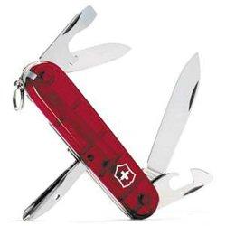 Victorinox Swiss Army Tinker Translucent Pocket Knife (Ruby)