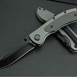 Rescue Black Pocket Folding Strap Holder Knife Wc308Am-7.75''