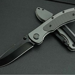 Black Rescue Manually Glass Breaker Folding Pocket Knife Wc218Am-8.26''