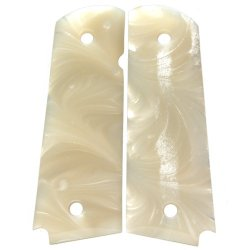 Premium Gun Grips 1911 Acrylic Pearl White Gun Grips, Will Fit All Government Issue Full Size 1911'S And Most Clones