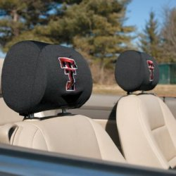 Bsi Products 82027 Headrest Covers Set Of 2 - Texas Tech Red Raiders