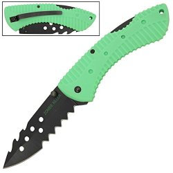 "Zombie Killer ""Defiler"" Pocket Folding Rescue Knife - A Must Have For Hunters Of The Walking Dead"