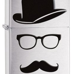 Zippo Faceless Lighter, Brushed Chrome
