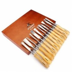 Carving Chisels Kit Woodworking Knifes Wood Carving Knifes Set X 12Pcs