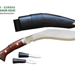 "Genuine Gurkha Full Tang Ww Ii Kukri Knife - 11"" Blade Replica World War Khukuri Or Khukris - Handmade By Ex Gurkha Khukuri House In Nepal"