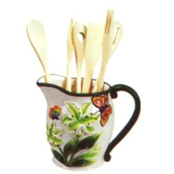 Butterfly 3-D Utensil Holder With Kitchen Tool