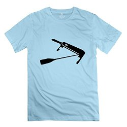 Design Artist Mens Short Sleeve Shirt/Swiss Paddle Knife Skyblue